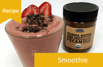 Dark Choco Pecan Strawberry Smoothie