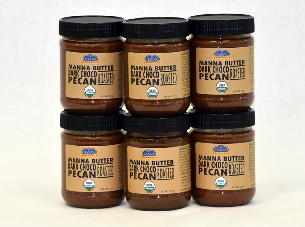 Case of 6 Manna Nut Butters Dark Chocolate Pecan